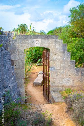 Lithica discovery.  Incredible garden Minorca Spain