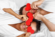 Leinwanddruck Bild - Adult happy couple relaxing in spa salon