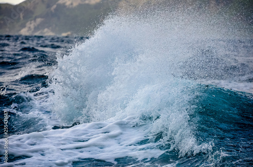 breaking waves in a storm - 255431687