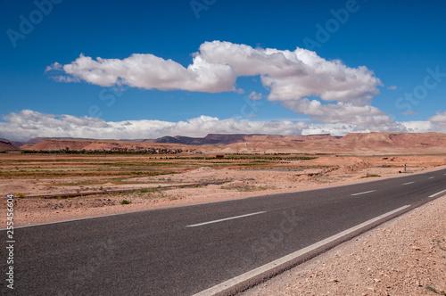Einsame Strasse in der Wüste - 255456604