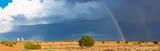 Fototapeta Tęcza - Rainbow over the field © Valerii