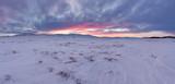 Land of Hope. Arctic tunda location in the Yamal Peninsula. Winter landscape.