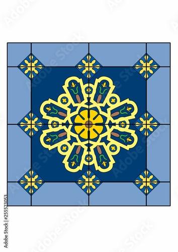 Patterned rug - 255523053