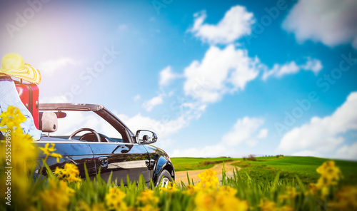 Summer car and free space for your decoration.