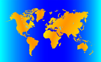 simplified image of a world map