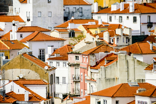houses in town of lisbon portugal, in Lisbon Capital City of Portugal © underworld