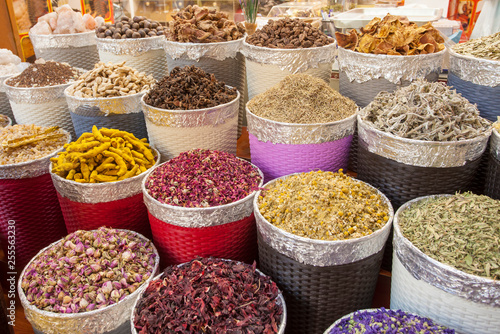 obraz lub plakat traditional spice market in United Arab Emirates, Dubai souk or market