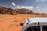 desert car tour photography in race time Middle East landscape