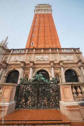 VENICE, ITALY - OCTOBER 06, 2017: Entrance Gate  to Campanile San Marco
