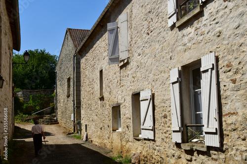 Wy dit joli village; France - august 3 2018 : village centre