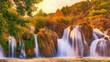 Beautiful Waterfalls in the river Krka, croatia - 255601039