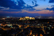 Athens view before night