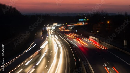 Rush hour on the curvy highway - night timelapse