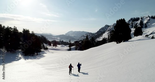 winter hiking and adventure in nature