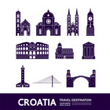 Croatia travel destination vector illustration.