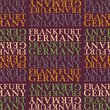 Frankfurt, Germany seamless pattern