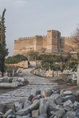 Path to Byzantine fortress on Ayasoluk Hill, in Selçuk, Turkey © Mark Zhu