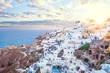 Leinwanddruck Bild - Santorini greece view. Amazing landscape with white houses. Island lovers