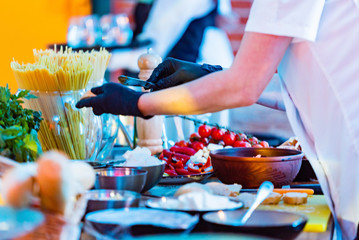 Catering Service in the restaurant