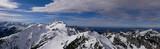 Winterpanorama Ammergauer Berge von der Hochplatte bis Schwarzenkopf