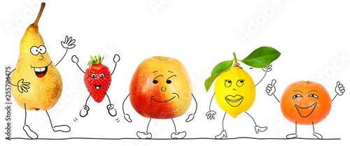 Healthy organic fruits 2 - 255706475