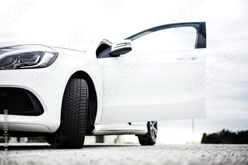 Modern White Car  - 255717865