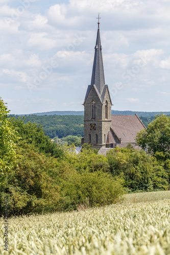 Church in Eschhofen village, close to Limburg, Germany