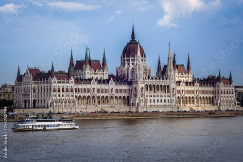 obraz PCV Hungarian Parliament Danube boat river summer