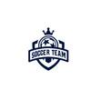 Modern professional logo for soccer