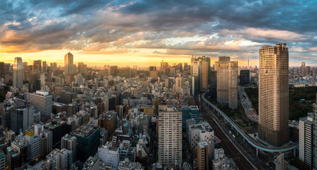 city at evening