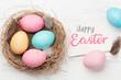 Leinwanddruck Bild - Easter greeting card
