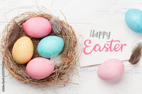 Leinwanddruck Bild Easter greeting card