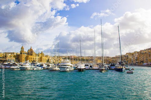 Yacht boats and various shipsin in Malta