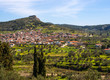 Panoramic view from the height of the island of Evia, Greece on a Sunny spring day - 255829870