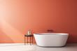 Leinwanddruck Bild - Modern orange bathroom