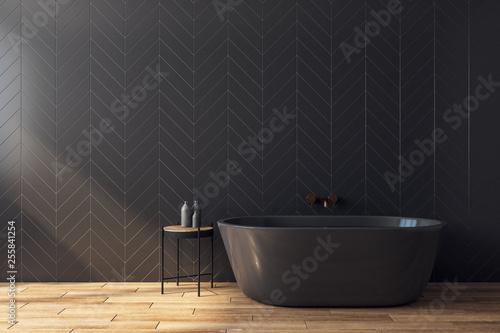 Leinwanddruck Bild Modern black bathroom