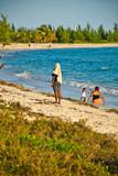 Tropical Beach Scene - Adventure Tourism.