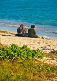 Friends on a Beach - African Beach Scene.