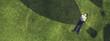 Leinwanddruck Bild - Kid relaxing on grass