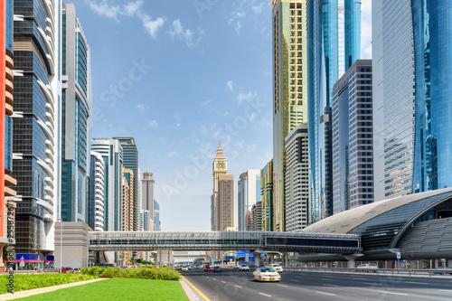 obraz lub plakat Scenic view of skyscrapers at downtown of Dubai. UAE