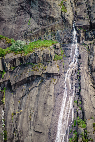 waterfall in mountains, Norway