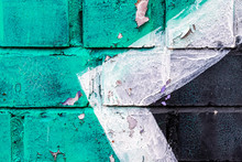 "Постер, картина, фотообои ""Graffiti painted on a brick wall texture."""