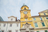 City of Rijeka, clock tower view in Croatia