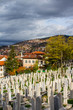 Muslim cemetery on a hill in Sarajevo. Bosnia and Herzegovina - 255936409