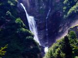 Waterfall Stauber or Wasserfall Stäuber, Brunnibach stream in the Alpine Valley of Maderanertal - Canton of Uri, Switzerland