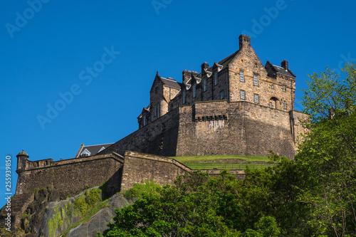 Leinwanddruck Bild Das Schloss von Edinburgh