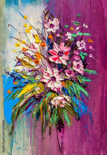 Oil painting Daisy flowers © serge-b