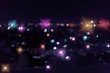 colorful night light in the city, image blur nightlife background - 255955465