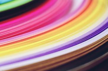 Rainbow paper abstract macro