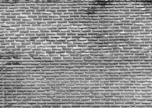 dirty gray brick wall - 255967461